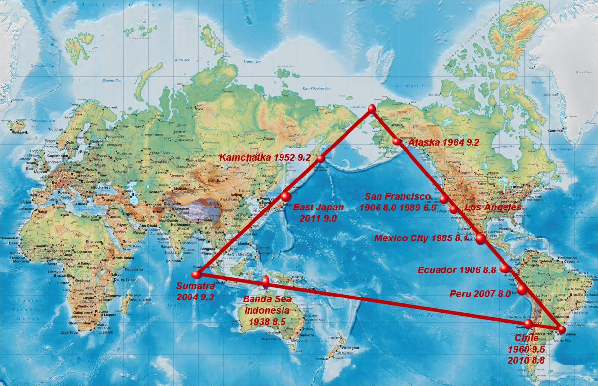 Super Quake Warning for Triangle of Fire Triangle Shirtwaist Fire Map
